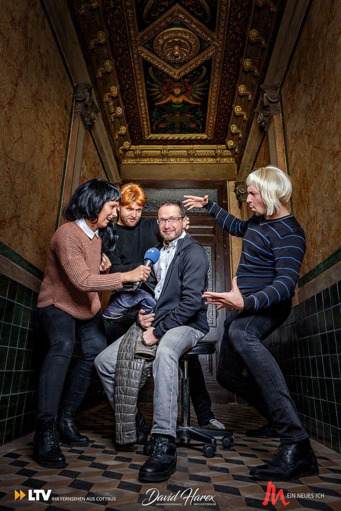 Fotoshooting für Lausitz TV und Mandy Sprejz von MEIN NEUES ICH. Ich hat Daleen mit David Harex die Vorher-Nacherfotos professionell umgesetzt.