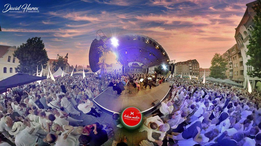 Cottbuser Walzernacht mit einem 360 Grad VR Film vom Altmarkt Cottbus